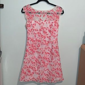 Pink and white lace sundress